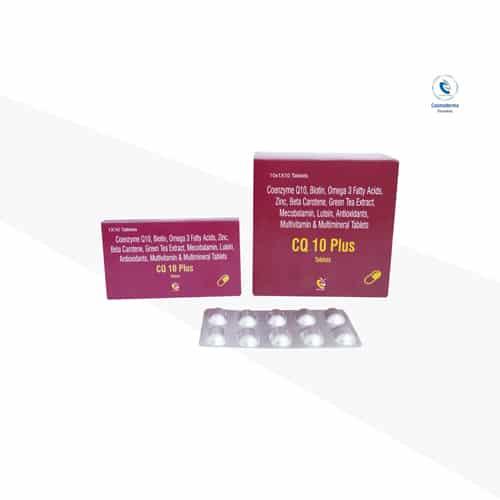 Coenzyme q10, Biotin, Omega 3 fatty acids,Zinc,Beta-Carotene,Green tea extract , Mecobalamin,Lutein,Anti Oxidant,Multivitamin,Multivitamin Tablets.
