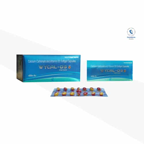 Calcium Carbonate 500mg + Elemental Calcium 200mg +Vitamin D3 500 IU